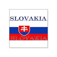 "Slovakiablack.png Square Sticker 3"" x 3"""