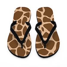 Giraffe Print Animal Flip Flops