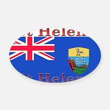 StHelena.jpg Oval Car Magnet