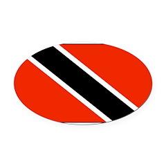 TrinidadTobagoblank.png Oval Car Magnet