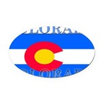 Colorado.png Oval Car Magnet