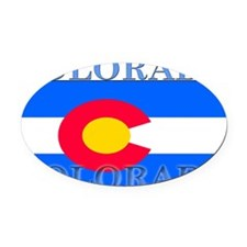 Colorado.png Oval Car Magnet