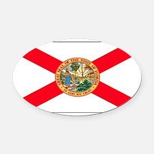 Floridablank.jpg Oval Car Magnet