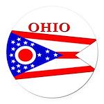 Ohio.png Round Car Magnet