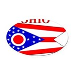 Ohio.png Oval Car Magnet