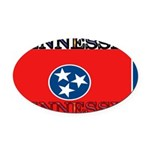 Tennessee.jpg Oval Car Magnet