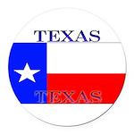 Texas.jpg Round Car Magnet