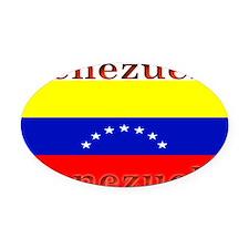 Venezuela.jpg Oval Car Magnet