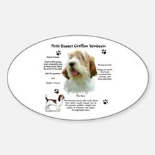 PBGV 1 Oval Decal