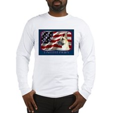 Great Dane United Paws Flag Long Sleeve T-Shirt