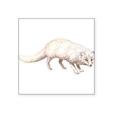 "ArcticFox.png Square Sticker 3"" x 3"""