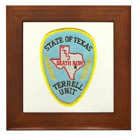 Texas Death Row Framed Tile