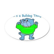 bulldog.png Oval Car Magnet