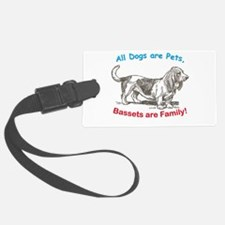 Bassetwhite.png Luggage Tag