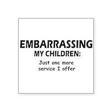 "Embarrassingblue.png Square Sticker 3"" x 3"""