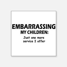 "Embarrassingblue.png Square Sticker 3"" x 3"""