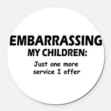 Embarrassingblue.png Round Car Magnet