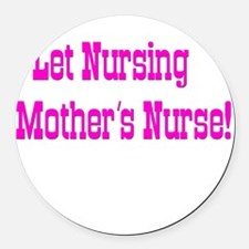 Nursing Black.png Round Car Magnet