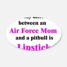 AirForceMom.png Oval Car Magnet