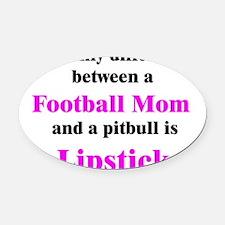 2-FootballMom.png Oval Car Magnet