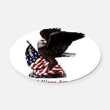 GodBlessAmerica.jpg Oval Car Magnet