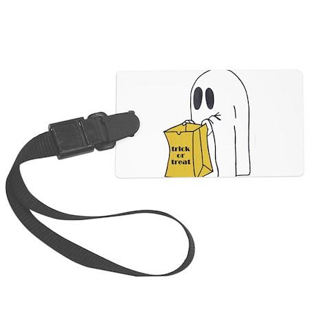 ghost 2.jpg Large Luggage Tag