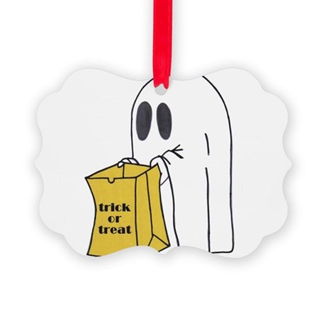 ghost 2.jpg Picture Ornament