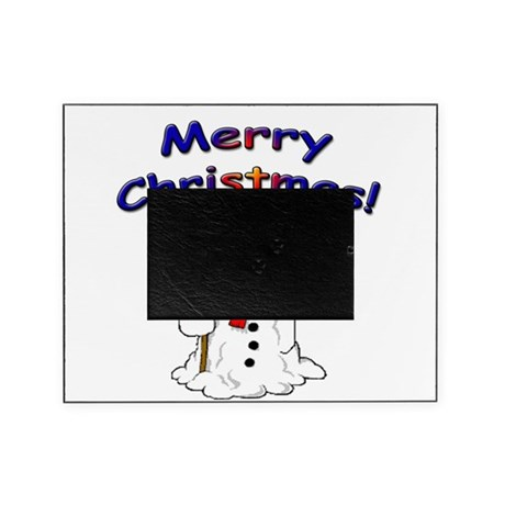 Snowmanblack.png Picture Frame