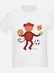 Monkey at Sports T-Shirt