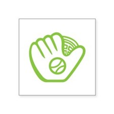 "Baseball Glove Square Sticker 3"" x 3"""