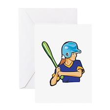 Baseball Woman Greeting Card