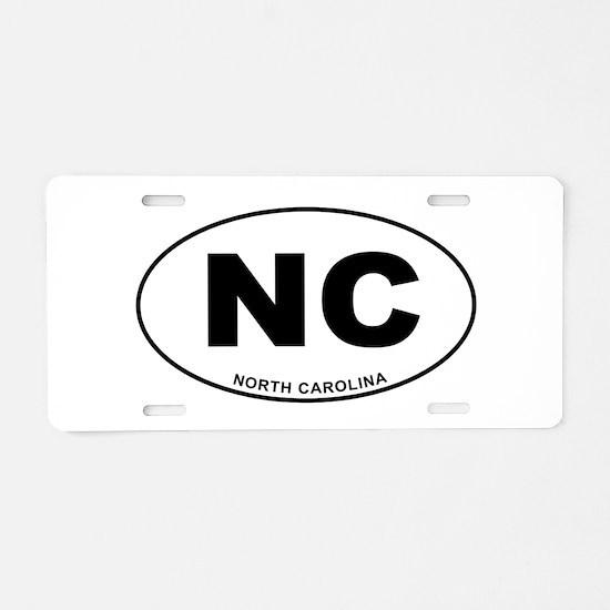 North Carolina State Aluminum License Plate