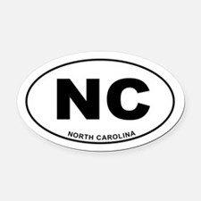 North Carolina State Oval Car Magnet