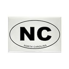 North Carolina State Rectangle Magnet