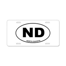 North Dakota State Aluminum License Plate