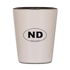 North Dakota State Shot Glass