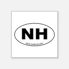 """New Hampshire State Square Sticker 3"""" x 3"""""""