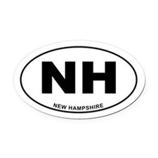New Hampshire State Oval Car Magnet