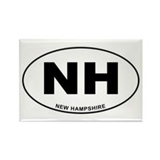 New Hampshire State Rectangle Magnet
