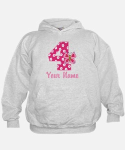 4th Birthday Butterfly Hoodie