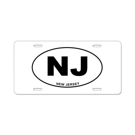 New Jersey State Aluminum License Plate By Cafestickers