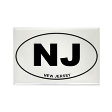 New Jersey State Rectangle Magnet