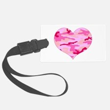 Pink Camo Heart Luggage Tag