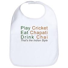 Love India Cotton Desi Humor Jokes Gift Baby Bib
