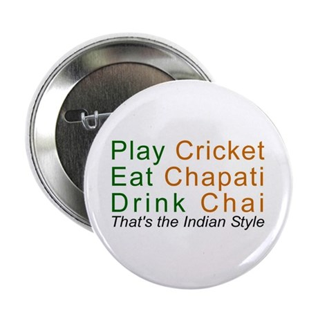 "Cricket Chai Chapati 2.25"" Button (10 pack)"