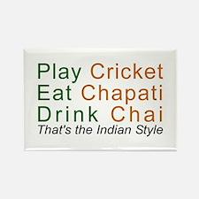 Cricket Chai Chapati Rectangle Magnet