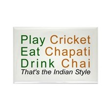 Love India Cricket Chapati Chai Desi Jokes Magnet