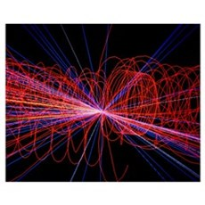 Simulation of Higgs boson production Canvas Art