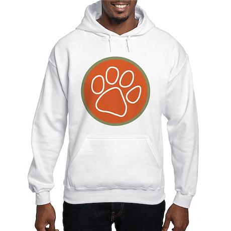 Paw print logo Hooded Sweatshirt Front/Back