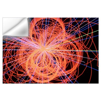 Simulation of Higgs boson production Wall Decal